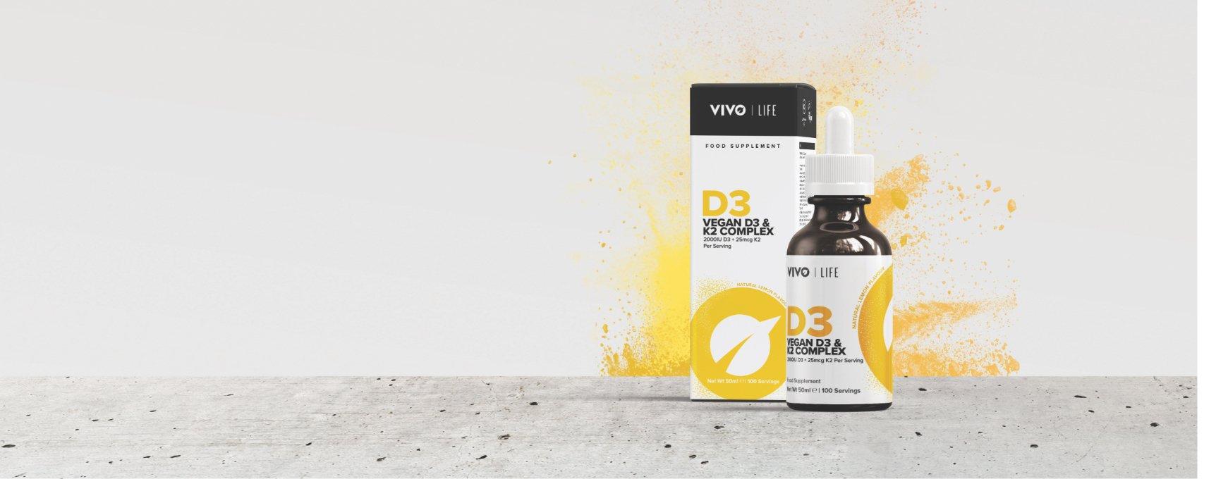 Vitamine D3 et vitamine K2 vegan vivolife