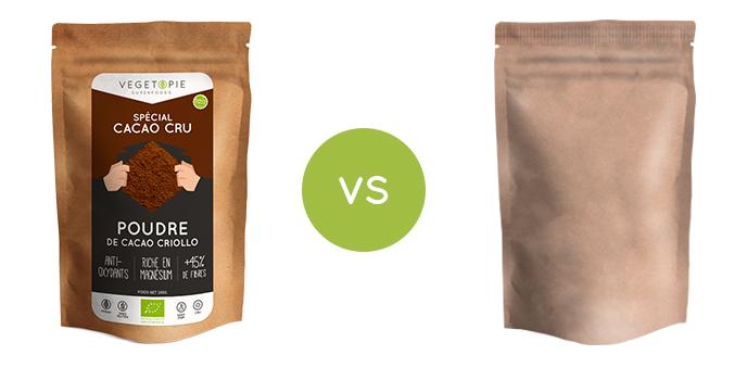 cacao cru en poudre bio qualite superieure